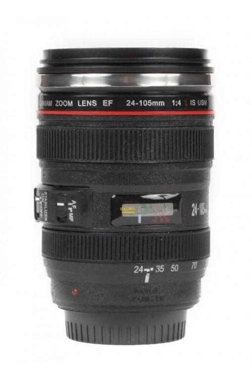 لیوان با طرح لنز دوربین عکاسی