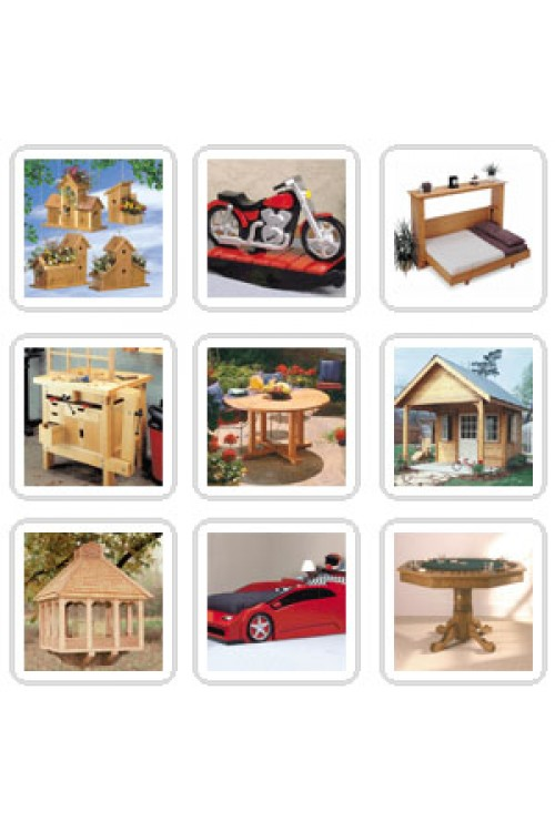 کتاب الکترونیکی 6000+ WoodWorking Projects Pages
