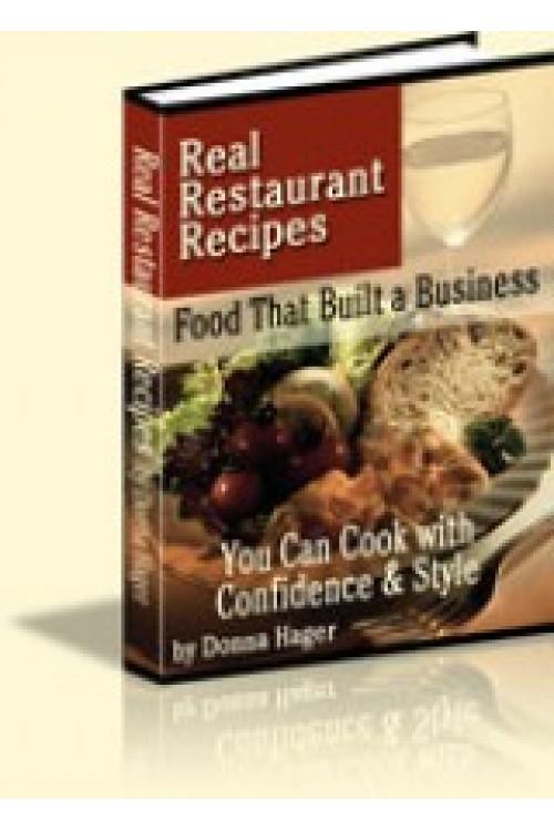 کتاب الکترونیکی Real Restaurant Recipes