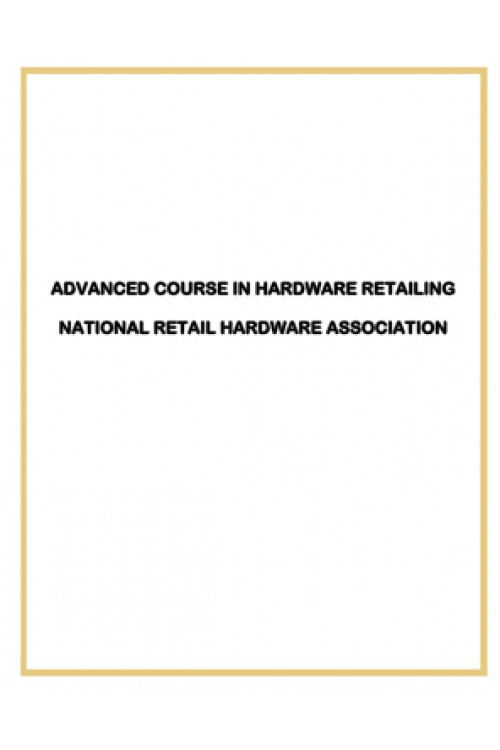 کتاب الکترونیکی Advanced Course In Hardware Retailing