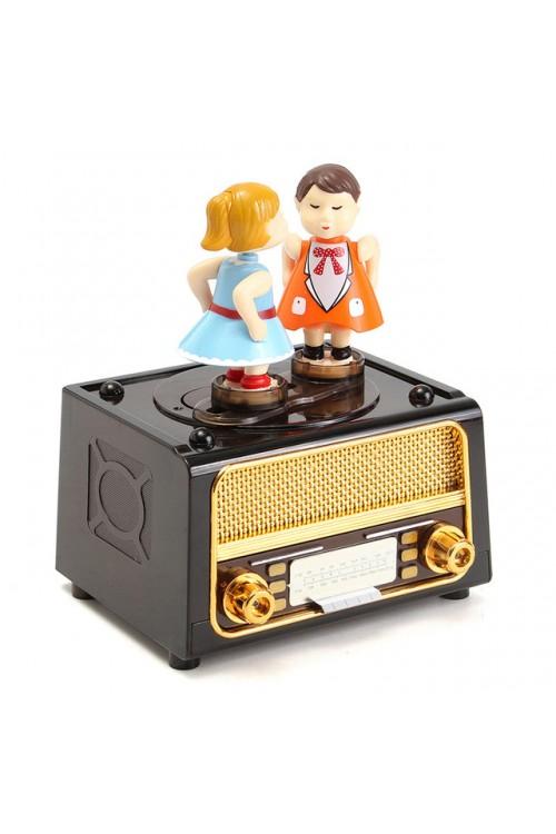 جعبه جواهرات موزیکال بوسه ای طرح رادیو